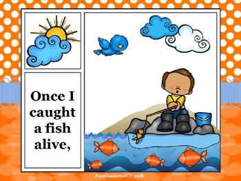 1, 2, 3, 4, 5....Fish Alive - Comic Strip Nursery Rhyme Story Telling - PPT Ed.