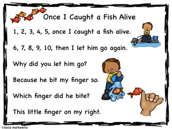 1, 2, 3, 4, 5 I Caught A Fish Printable