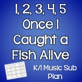 1, 2, 3, 4, 5 Once I Caught a Fish Alive~General Music Sub Plan for Kindergarten