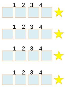 1, 2, 3, 4, free choice