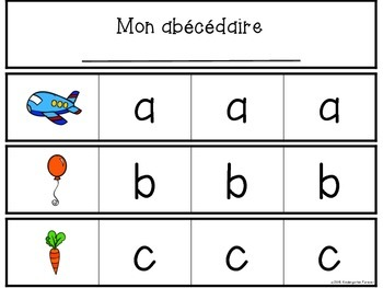 1-2-3 Abécédaire - Alphabet Letter Recognition Activity - French