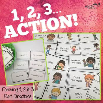 1, 2, 3 Action! (listening and following directions)