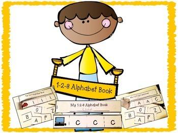 1-2-3 ABC Book - Alphabet Letter Recognition Activity