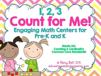 1 2 3, Count with Me! - Math Centers and So Much More {Common Core Aligned}