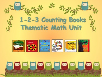 1-2-3 Counting Books Thematic Math - Great for Beginning o
