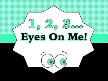1, 2, 3 Eyes On Me! Printable