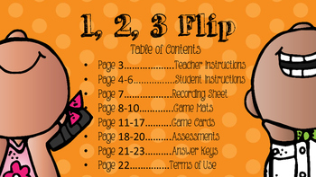 1, 2, 3 Flip- A Differentiated Comparing Numbers Game