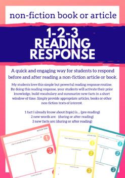 1-2-3 Non-Fiction Article Reading Response