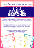 1-2-3 Non-Fiction Article Reading Response