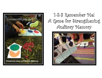 1-2-3 Remember Me! (An Auditory Memory Game for Reading Fluency).