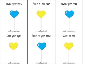 1, 2, 3-Step Direction Heart Pops