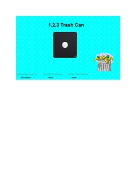 1, 2, 3 Trashcan Place Value Game