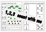 1,2,3 count with me. Number 1-10 worksheets