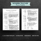 1, 2 & 3 page teacher resume template for Word & Pages | Instant download