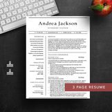1, 2 & 3 page teacher resume template for Word & Pages | I