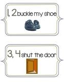 1, 2, Buckle My Shoe Nursery Rhyme Signs