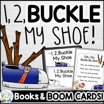 1, 2, Buckle My Shoe Nursery Rhyme Emergent Reader & Class Poster