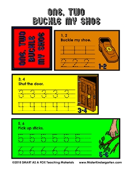 1, 2 Buckle My Shoe Flip Booklet