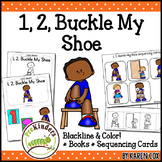 1, 2, Buckle My Shoe Rhyme: Books & Sequencing Cards