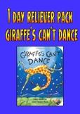 "Reliever / Substitute Teacher Pack ""Giraffe's Can't Dance""."