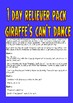 "Reliever / Substitute Teacher Pack ""Giraffe's Can't Dance""."