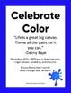 Sub Plan Celebrating Color Grades 3-5