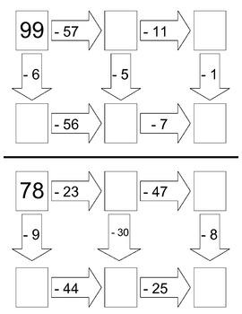 1 & 2-Digit Subtraction Worksheets