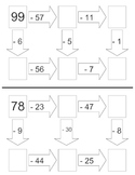 1 & 2-Digit Subtraction Worksheets