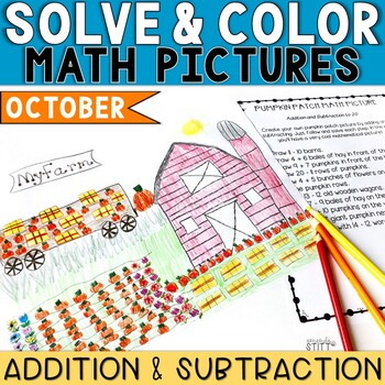 Solve and Color Addition and Subtraction | October Math