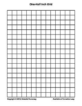 1/2 Inch by 1/2 Inch Grid Paper (FREE)