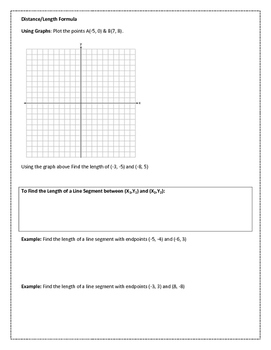 Midpoint and Distance in the Coordinate Plane PDF