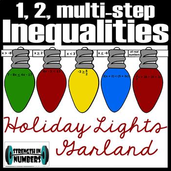 1, 2, Multi-Step Inequalities Cooperative Paper Chain Garland Chirstmas Lights