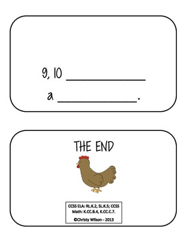 1, 2 Number Book with Big Fat Hen