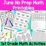 June First Grade No Prep Math Packet