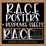RACE Reading Response Posters (Burlap) and Response Sheets