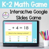 K-2 Addition and Subtraction Math Google Slides Game April Themed