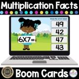 Multiplication Facts Digital Boom Task Cards