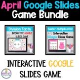 Multiply and Divide Games on Google Slides™ April Themed