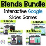 R, L, S Blends Google Slides Phonics Activities BUNDLE