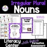 Irregular Plural Nouns Literacy Grammar Center Activities