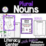 Plural Nouns Hands-On Literacy Grammar Center Activities #1