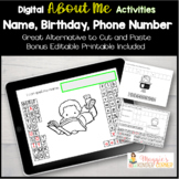 Digital Name Birthday Phone  Activities Distance Learning