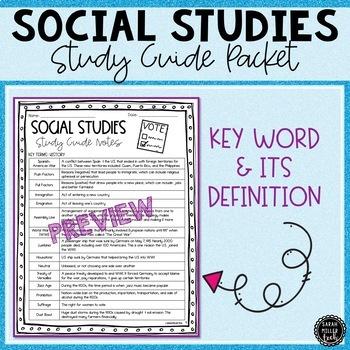 5th Grade Social Studies Review Packet