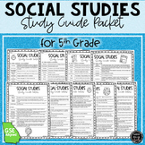 5th Grade Social Studies Review Packet
