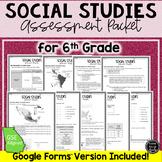6th Grade Social Studies Assessment Packet