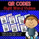 QR Code Sight Word Videos Task Cards for Kindergarten Words