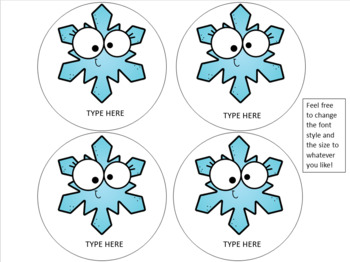 Kindness Bulletin Board | Winter Bulletin Board | EDITABLE Snowflake Cut-Outs