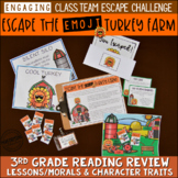 Thanksgiving Reading Escape Room Game 3rd Grade | Breakout