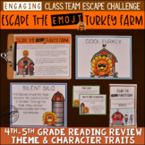 Thanksgiving Reading Escape Room Game 4th & 5th Grade | Breakout