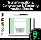 8th Grade Practice Sheets Transformations Google Drive Dis